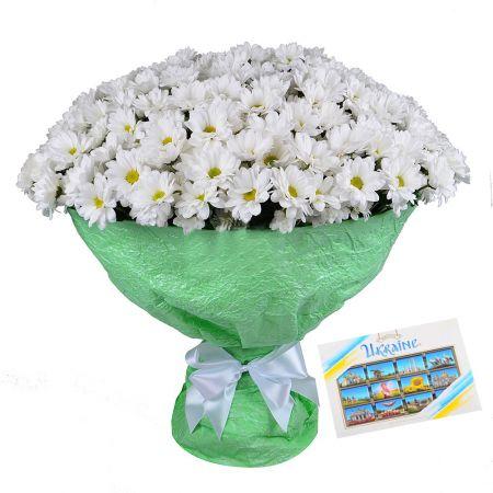 Bouquet 51 хризантема + Конфеты Roshen Ukraine
