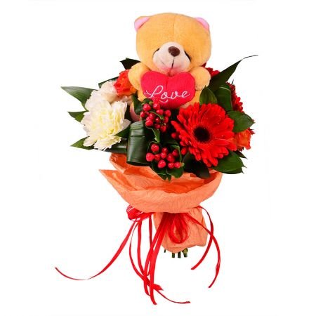 Bouquet Teddy surprise